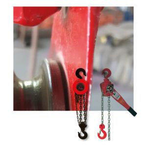 Polipastos manuales y poleas de cadena