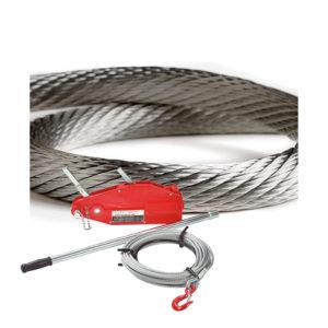 Sistema de tracción manual de cable